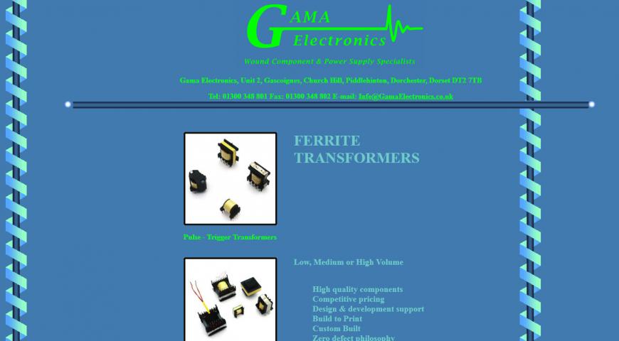 Old Gama Electronics Website